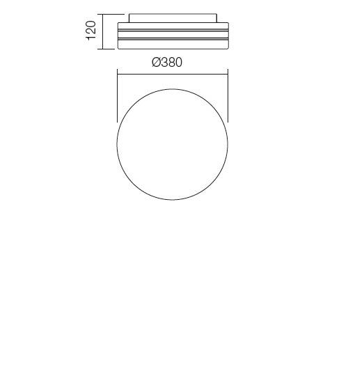 Redo Orbital 01-699 modern fürdőszobai mennyezeti lámpa / Redo / lámpák