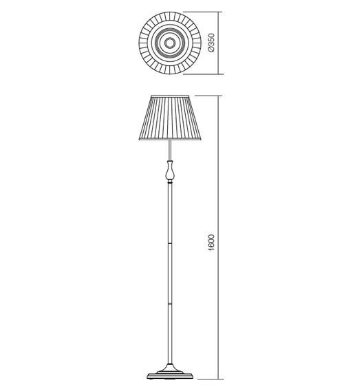 Incanti Greta 02-689 rusztikus állólámpa