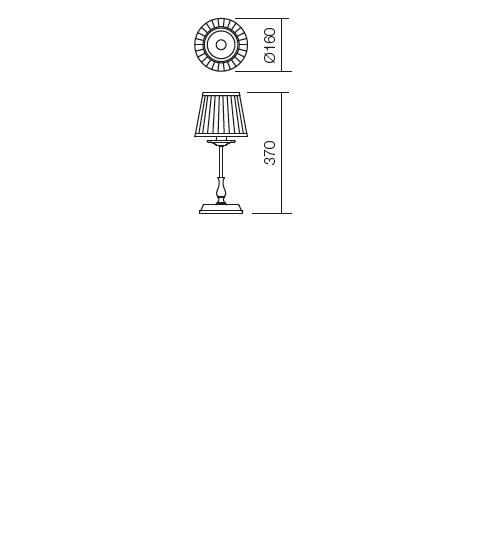 Incanti Greta 02-688 rusztikus asztali lámpa