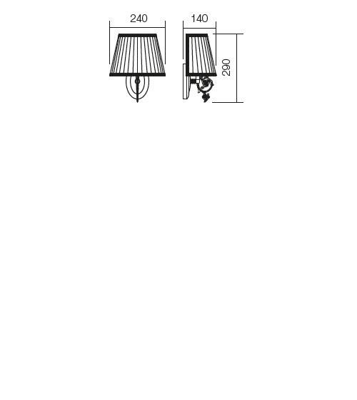 Incanti Ilaria 02-656 klasszikus falikar