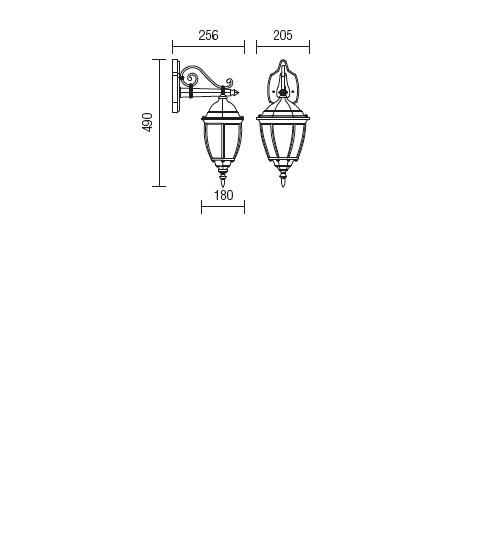 Redo Sevilla 9605 klasszikus kültéri fali kar / Redo / lámpák