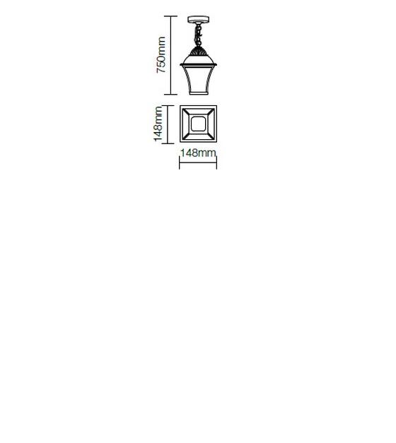 Redo Avignon 9959 kültéri klasszikus 1 ágú függeszték / Redo / lámpák