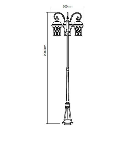 Redo Bremen 9954 kültéri klasszikus állólámpa / Redo / lámpák