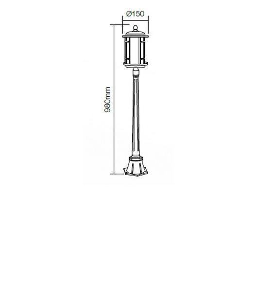 Redo Bristol 9958 kültéri modern állólámpa / Redo / lámpák