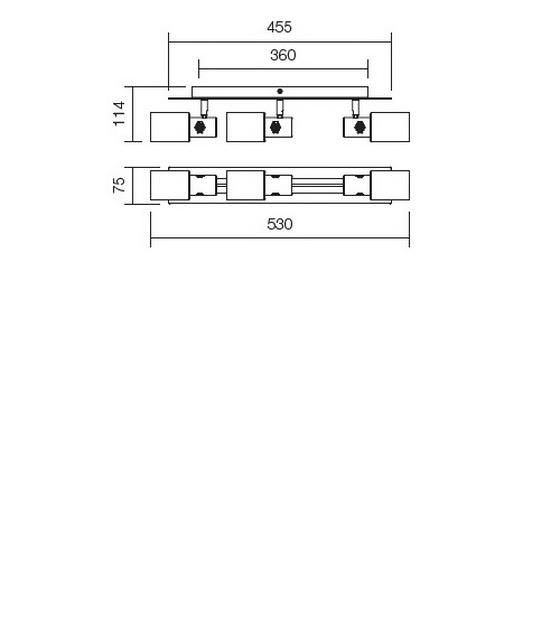 Redo Ruler 04-346 modern fali / mennyezeti lámpa / Redo / lámpák