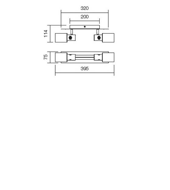 Redo Ruler 04-345 modern fali / mennyezeti lámpa / Redo / lámpák