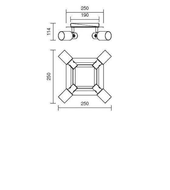 Redo Ruler 04-347 modern mennyezeti lámpa / Redo / lámpák