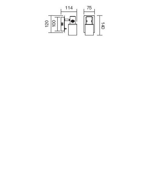 Redo Ruler 04-344 modern fali lámpa / Redo / lámpák