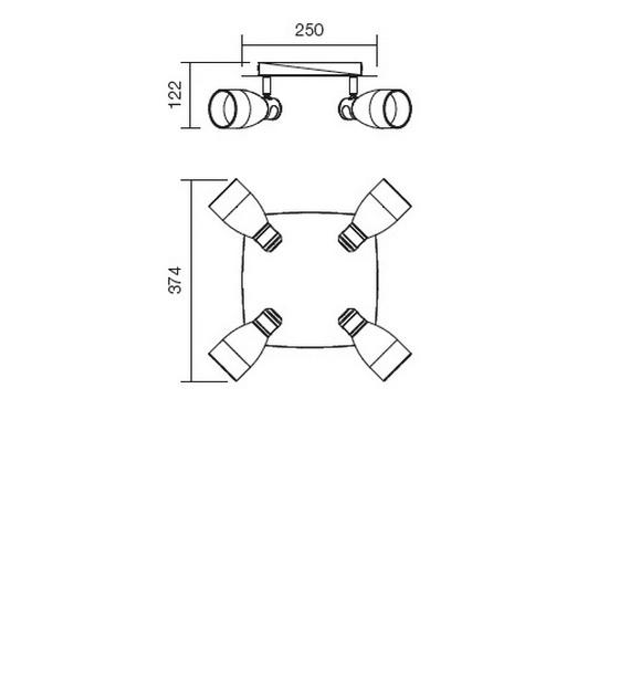 Redo Snap 04-339 modern mennyezeti lámpa / Redo / lámpák