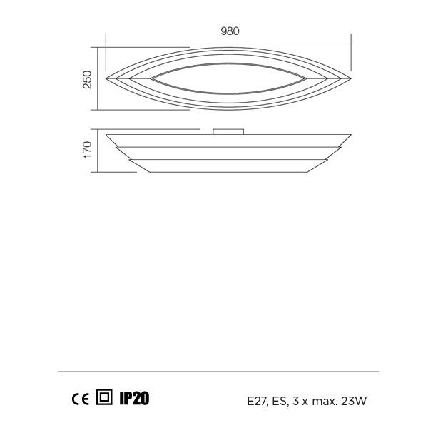 Redo Calypso 01-763 modern mennyezeti lámpa / Redo / lámpák