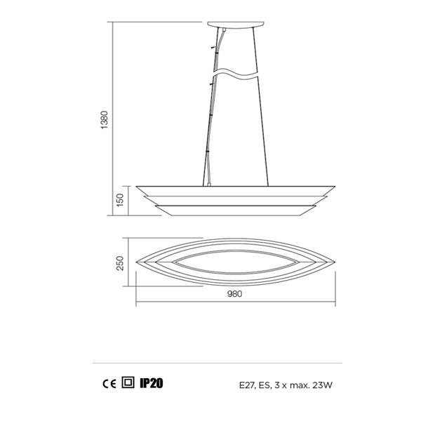 Redo Calypso 01-764 modern függeszték  / Redo / lámpák