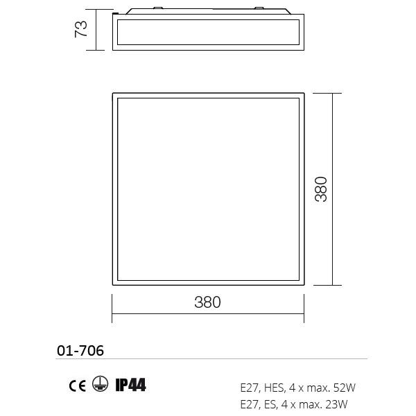 Redo Ego 01-706 modern fürdőszobai mennyezeti lámpa / Redo / lámpák