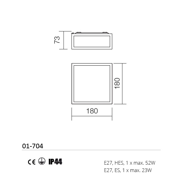Redo Ego 01-704 víz védett fürdőszobai lámpa