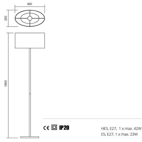 Redo Enjoy 01-681 WH modern állólámpa