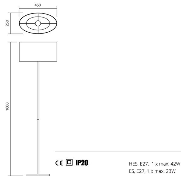 Redo Enjoy 01-681 BK modern állólámpa
