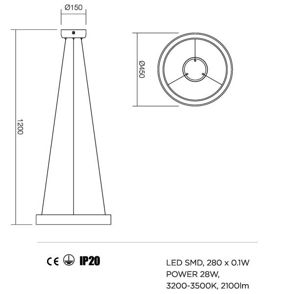 Redo Loop 01-671 modern függeszték / Redo / lámpák