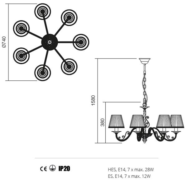 Incanti Milena 02-731 klasszikus csillár