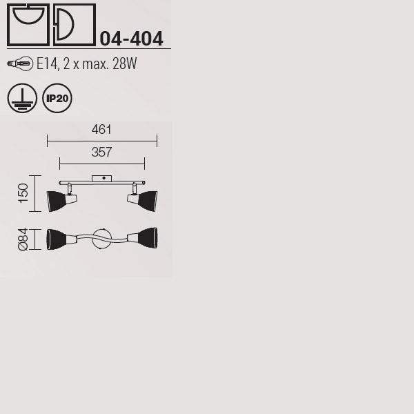 Redo Rugiada 04-404 modern fali kar / Redo / lámpák