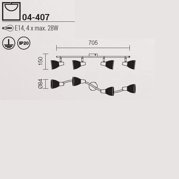 Redo Rugiada 04-407 modern mennyezeti lámpa / Redo / lámpák