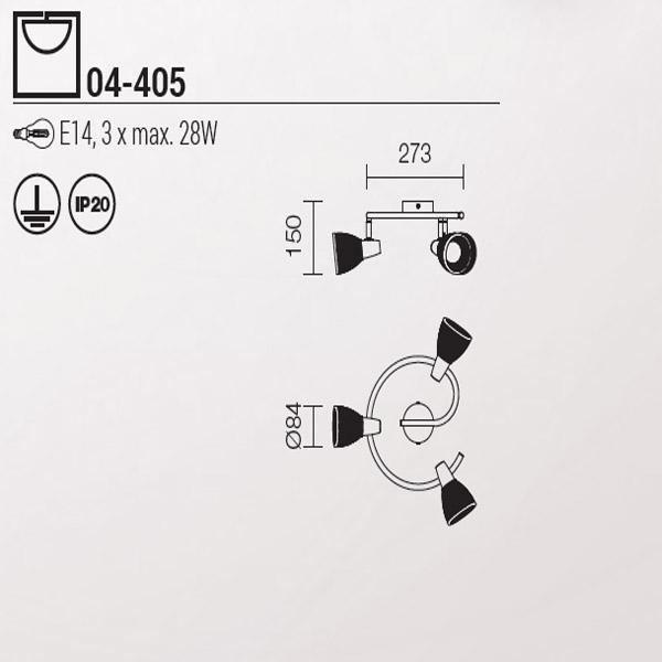 Redo Rugiada 04-405 modern mennyezeti lámpa / Redo / lámpák
