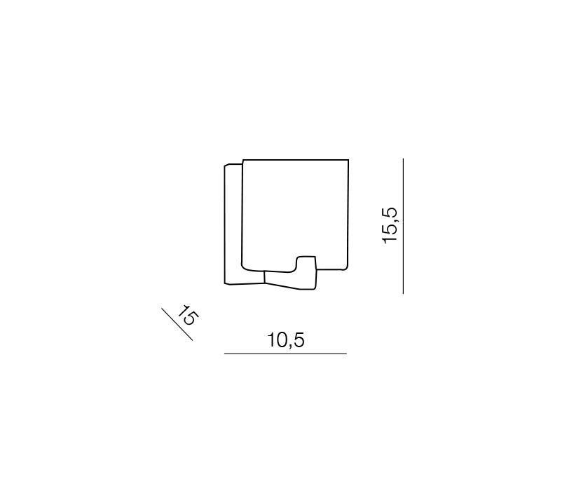 AZzardo AZ-0084 Cross fali lámpa / Azzardo AZ-MB758-1 / lámpa