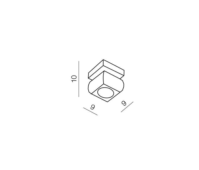 Azzardo AZ-0489 Rubic 1 izzós mennyezeti lámpa / Azzardo AZ-1798-1X / lámpa