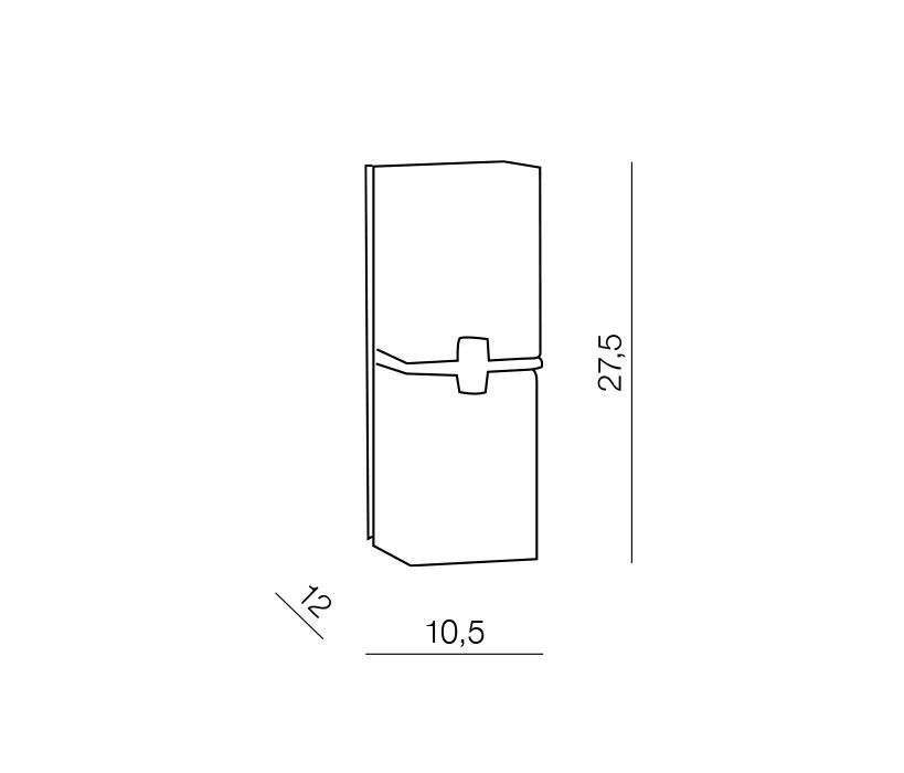 AZzardo AZ-0085 Cross fali lámpa / Azzardo AZ-MB758-2 / lámpa