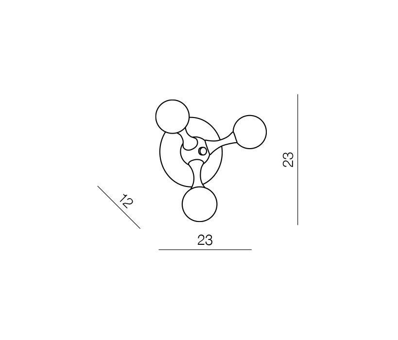 AZzardo AZ-0108 Neurono fali lámpa / Azzardo AZ-MB6199-3 /