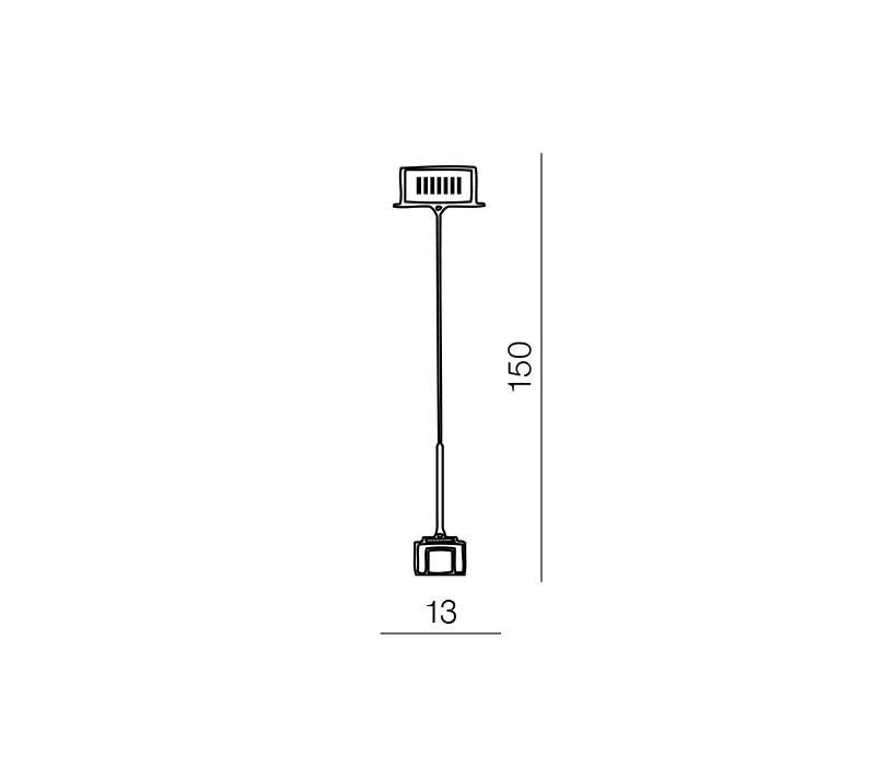 AZzardo AZ-0036 Box 1 izzós függeszték / Azzardo AZ-MP8516-1 / lámpa