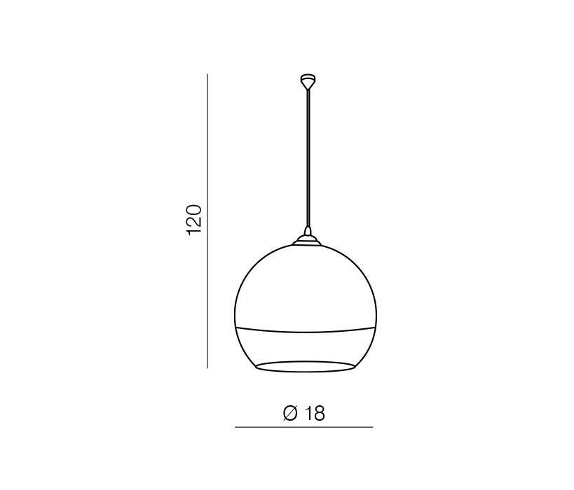 Azzardo AZ-0731 Silver Ball 1 izzós függeszték / Azzardo AZ-LP5034-S /