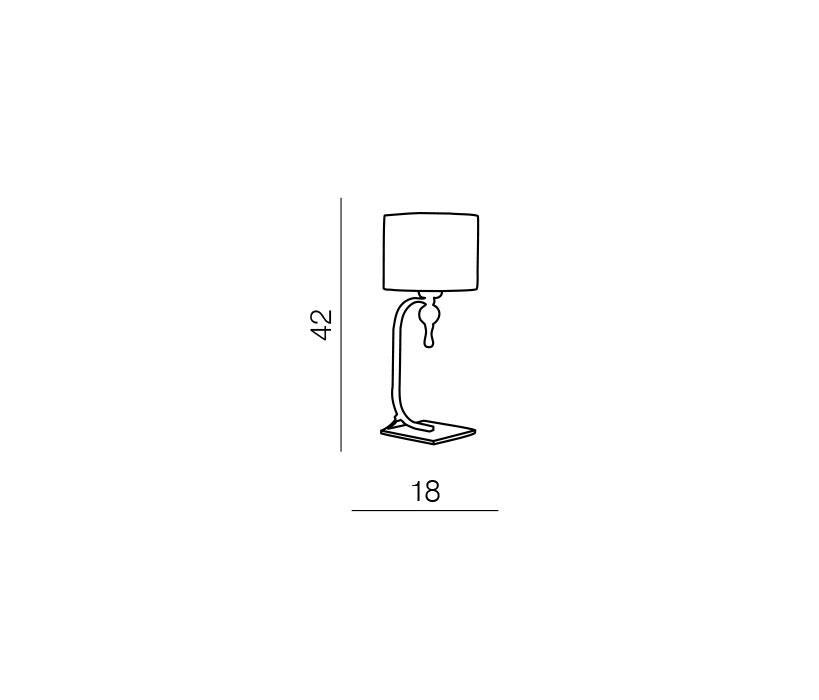 Azzardo AZ-1107 Impress 1 izzós asztali lámpa / Azzardo AZ-1976-1TWH /
