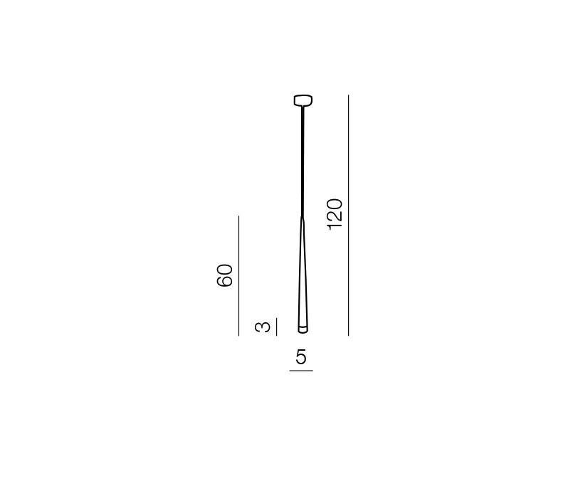 AZzardo AZ-0116 Stylo 1 izzós függeszték / Azzardo AZ-MD1220-1BL / lámpa
