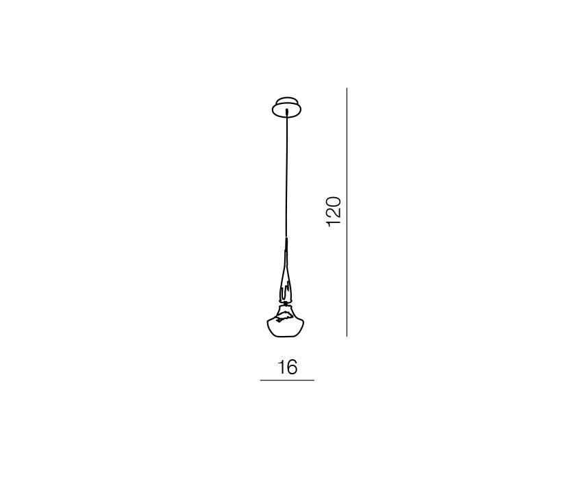 AZzardo AZ-0260 Tasos 1 izzós függeszték / Azzardo AZ-MD2095-1W / lámpa