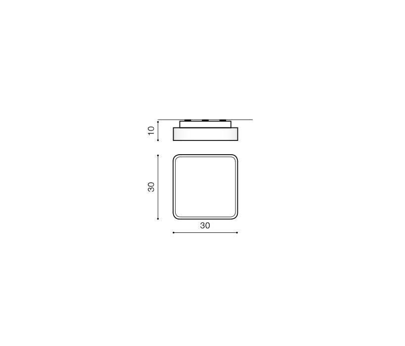 AZzardo AZ-0202 Quadro szögletes mennyezeti lámpa / Azzardo AZ-AX7131-A / lámpa