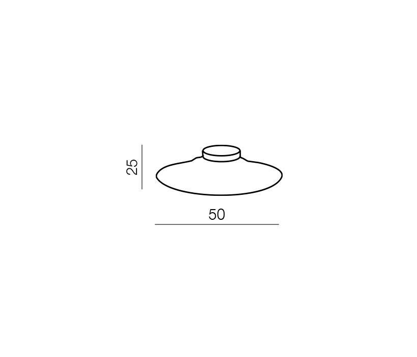 AZzardo AZ-0280 Pires kerek mennyezeti lámpa / Azzardo AZ-LC5123-3 /
