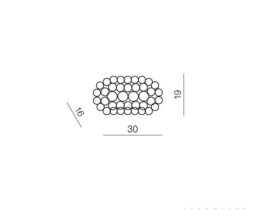 AZzardo AZ-0052 Acrylio fali lámpa / Azzardo AZ-MB026 /