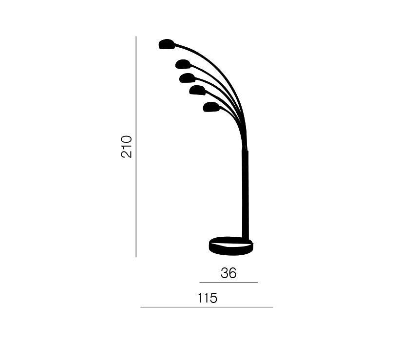 AZzardo AZ-1122 Palp állólámpa / Azzardo AZ-TS5805CH / lámpa