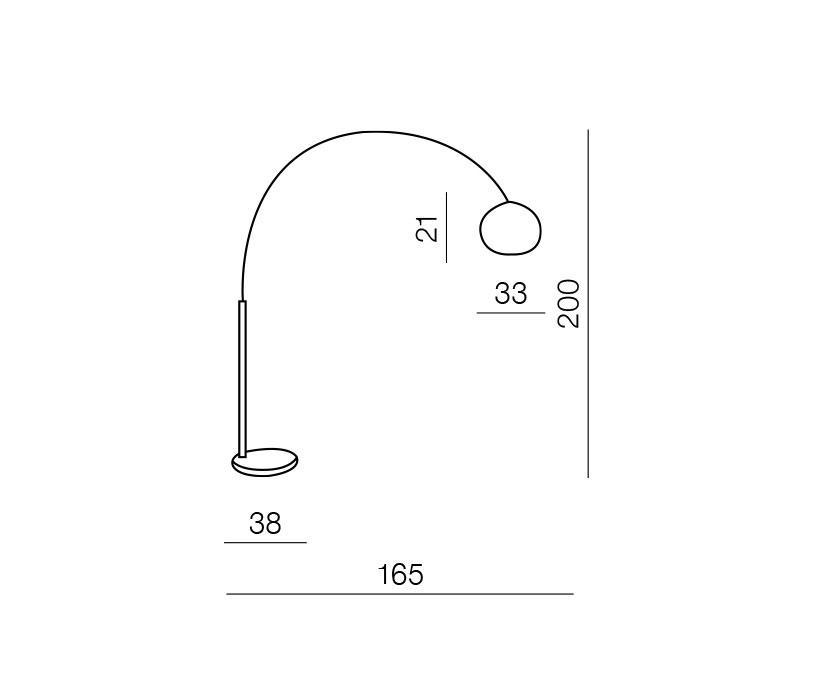 AZzardo AZ-0022 Tosca állólámpa / Azzardo AZ-TS010121MM-GC / lámpa