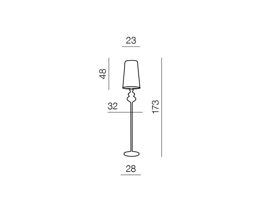 AZzardo AZ-0063 Baroco állólámpa / Azzardo AZ-AL7121-1BL / lámpa