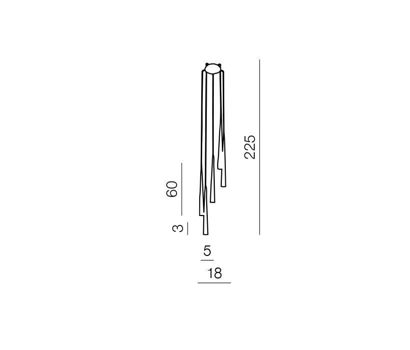 AZzardo AZ-0119 Stylo 5 izzós függeszték / Azzardo AZ-MD1220A-5BL / lámpa