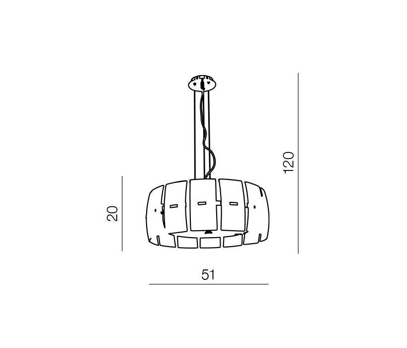 AZzardo AZ-0190 Taurus 4 izzós függeszték / Azzardo AZ-MD2050S-4BL / lámpa