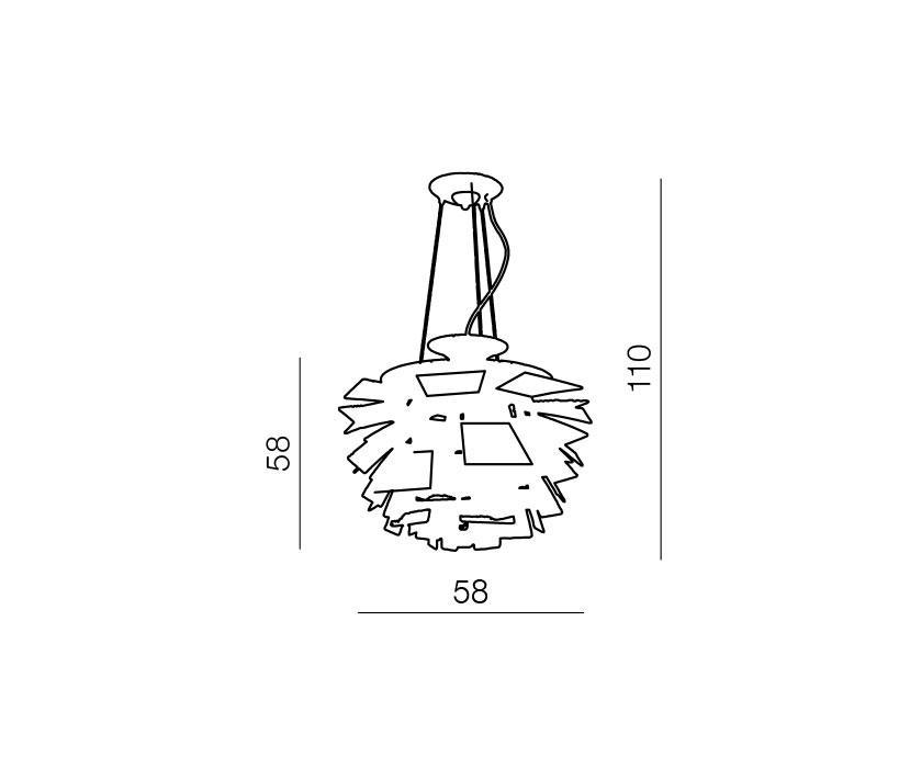 AZzardo AZ-0097 Flower 1 izzós függeszték / Azzardo AZ-DH1002B / lámpa