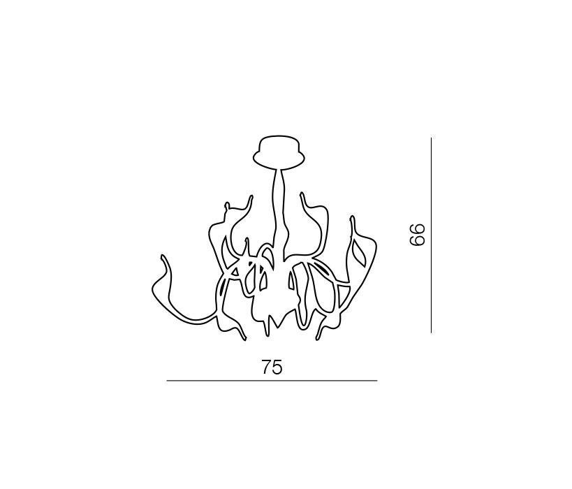 AZzardo AZ-0044 Snake 12 izzós függeszték / Azzardo AZ-MD6230-12CH / lámpa