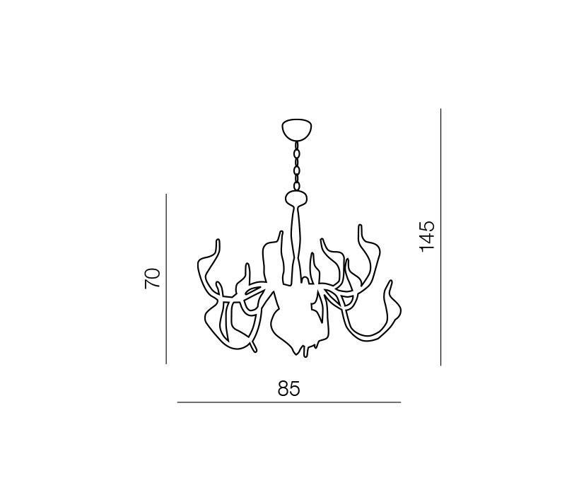 AZzardo AZ-0043 Snake 15 izzós függeszték / Azzardo AZ-MP6230-15CH / lámpa