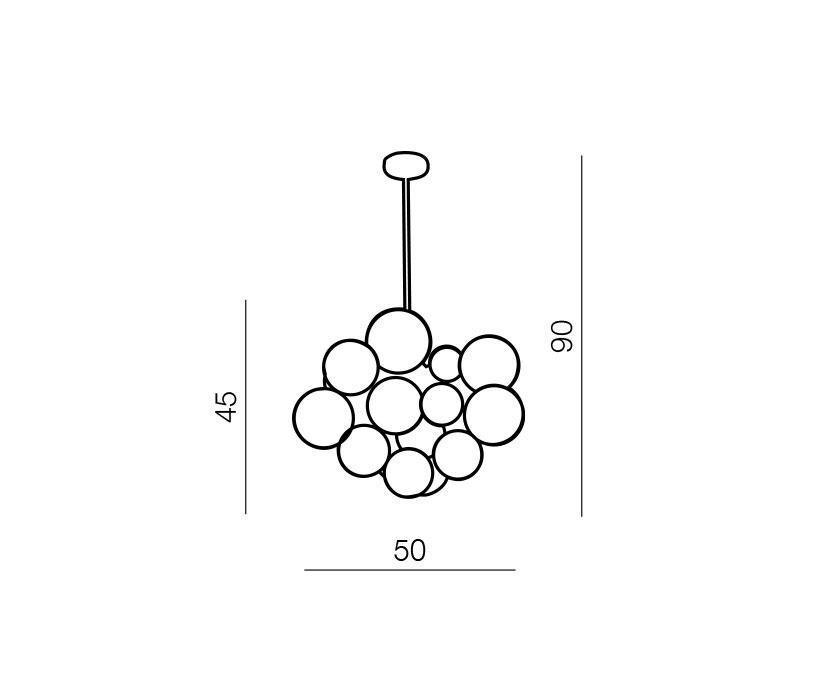 AZzardo AZ-0110 Noble 10 izzós függeszték / Azzardo AZ-AD8052-17 /