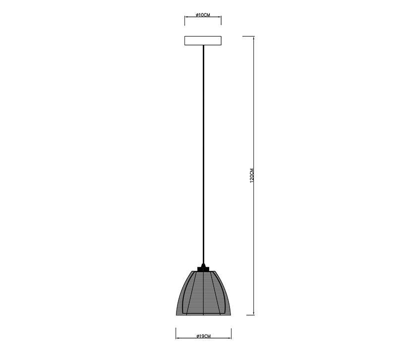 Zuma Pico függeszték / Zuma / lámpa ZU-MD9023-1SBK