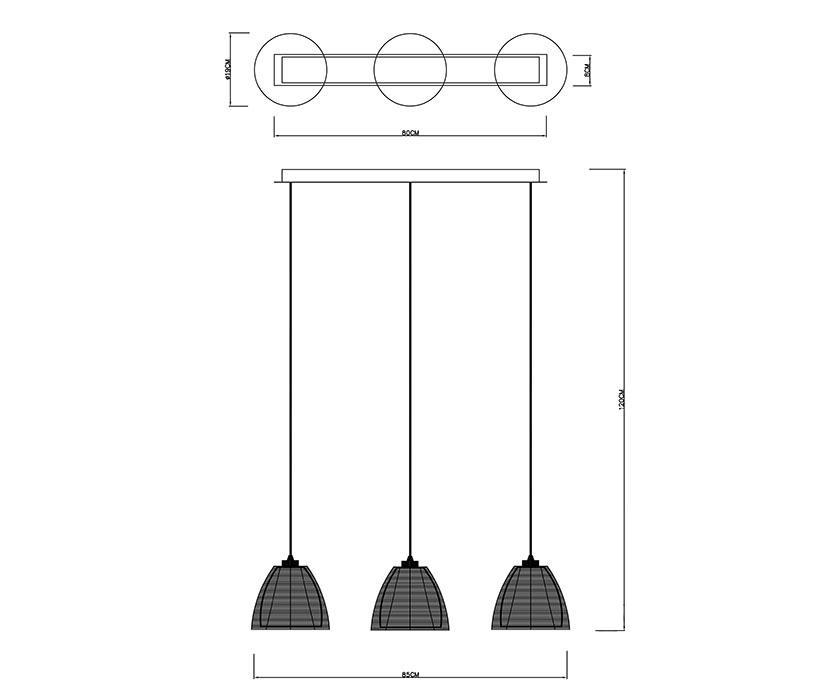 Zuma Pico függeszték / Zuma / lámpa ZU-MD9023-3BBK