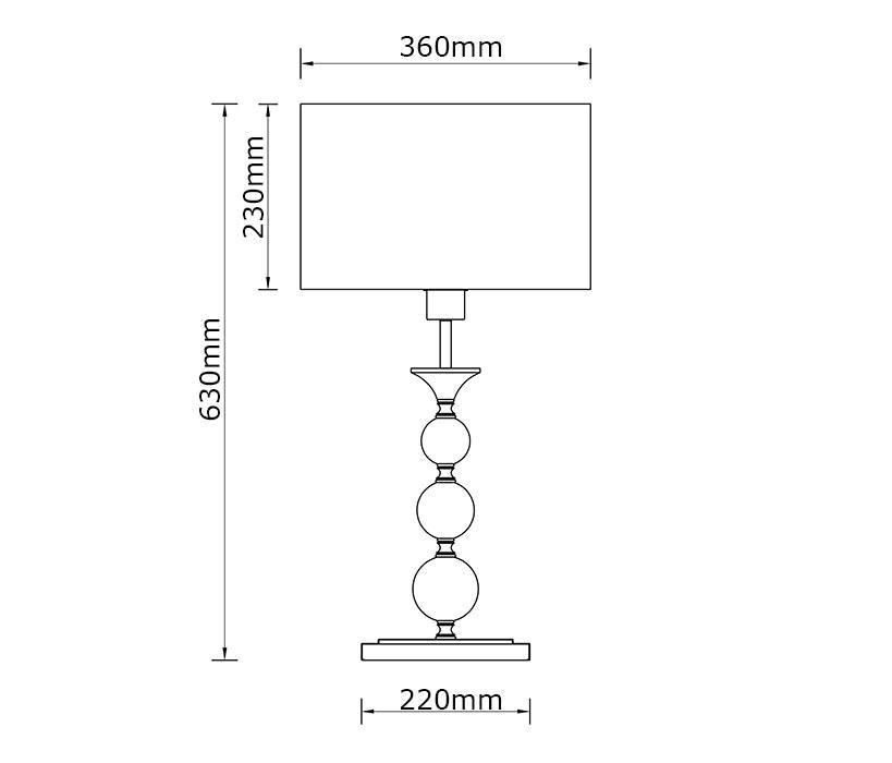 Zuma Rea asztali lámpa / Zuma / lámpa ZU-RLT93163-1W