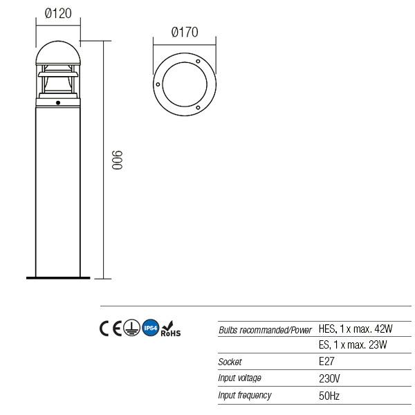 Redo Argo 9946 modern kültéri állólámpa / Redo / lámpák