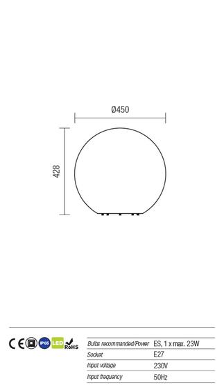 Redo Baloo Stone 9970 kültéri modern dekorációs lámpa  / Redo / lámpák
